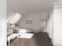 Luxury children's room for two children in art Deco style. Stock Photos