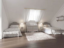 Luxury children's room for two children in art Deco style. Royalty Free Stock Photos