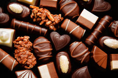 Luxury Choclate praline stock photos