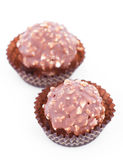 Luxury chocolate balls Royalty Free Stock Image
