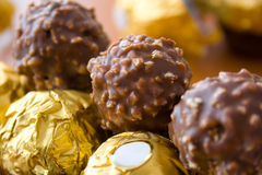 Luxury chocolate candies Stock Photography