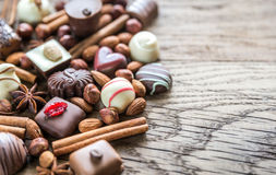 Luxury chocolate candies Royalty Free Stock Photos