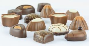Luxury chocolates. Luxury chocolate assortment on a light background Stock Image
