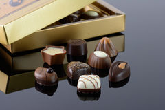 Luxury chocolates Stock Photography