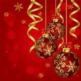 Luxury christmas ball. Illustration Stock Photography