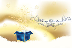 Luxury christmas card with surpise box Stock Images