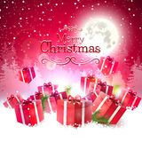 Luxury Christmas greeting card Stock Image