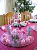 Luxury christmas table stock photography