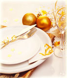 Luxury Christmas table decoration Royalty Free Stock Photo