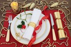 Luxury Christmas Table Setting Stock Image