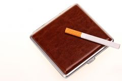 Luxury cigarette case Stock Images