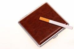 Luxury cigarette case Stock Images