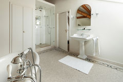 Luxury classic bathroom Stock Images