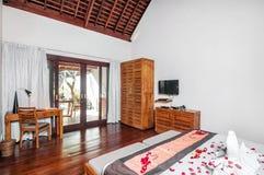 Luxury and Classic Bedroom Villa Hotel Stock Photo