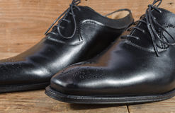 Luxury classic black shoes Stock Images
