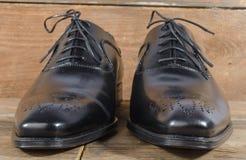 Luxury classic black shoes Stock Image