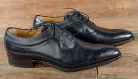 Luxury classic black shoes Royalty Free Stock Image