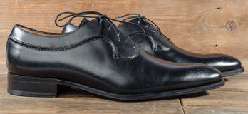 Luxury classic black shoes Royalty Free Stock Images