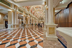 Luxury classic colonnade corridor. With marble floor and curved arch ceiling Royalty Free Stock Photography
