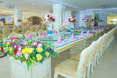 Luxury classic -style interior of dining room Stock Images