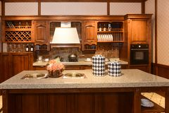 Luxury classical kitchen royalty free stock image
