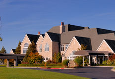 Luxury Clubhouse. Of a hilltop golf club Royalty Free Stock Photo