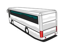 Luxury Coach. Illustration of a luxury coach Stock Photo