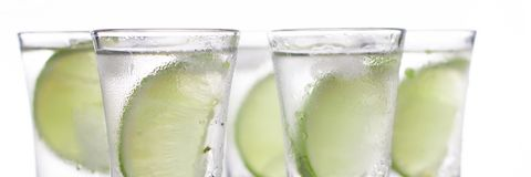Luxury cocktail with tequila and lime Stock Photography
