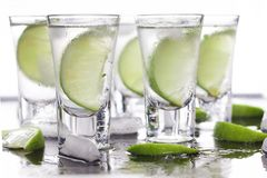 Luxury cocktail with tequila and lime Royalty Free Stock Photos