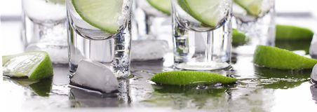 Luxury cocktail with tequila and lime Stock Images