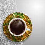 Luxury coffee cup Stock Photos