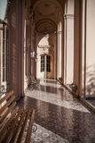 Luxury colonnade corridor Royalty Free Stock Photography