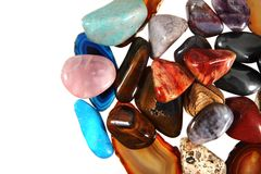 Luxury color gems as background Royalty Free Stock Photo