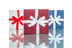 Luxury color gift box for holiday event silk wrap Royalty Free Stock Photo