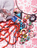 Luxury colorful accessories Royalty Free Stock Photo