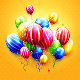 Luxury colorful balloons Stock Images