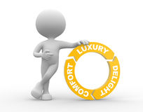 Luxury Comfort and Delight arrows Stock Image