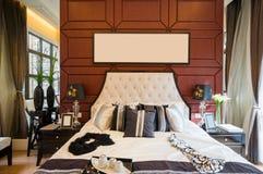 Luxury comfortable bedroom Royalty Free Stock Photo