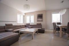 Luxury comfortable corner sofa Stock Images