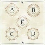 Luxury company monogram typographic identity template. Vector illustration Stock Photography