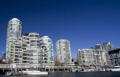 Luxury condo. High rise luxury condominiums on the Vancouver waterfront stock photography