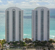 Luxury Condo Building. In Sunny Isles Beach Florida. Turnberry Ocean Colony Stock Image