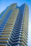 Luxury Condominium High Rise. Modern, luxury condominium high rise located in Miami Beach, Florida. Taken from low perspective upward royalty free stock photos