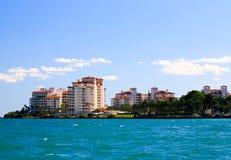 The luxury condominium in an island in Miami Stock Photography
