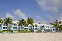 Luxury condominium located on the Seven Miles Beach at Grand Cayman Royalty Free Stock Photo