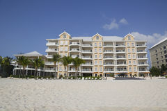 Luxury condominium located on the Seven Miles Beach at Grand Cayman Royalty Free Stock Images