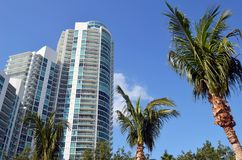 Luxury Condominium Towers in Miami Beach Royalty Free Stock Images