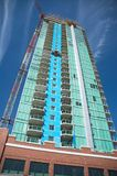 Luxury condominiums. Under construction in Calgary, AB Stock Images