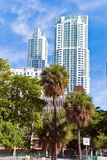Luxury condominiums - buildings in miami downtown Royalty Free Stock Photography