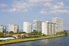 Luxury Condominiums on a Florida Coast Stock Photography